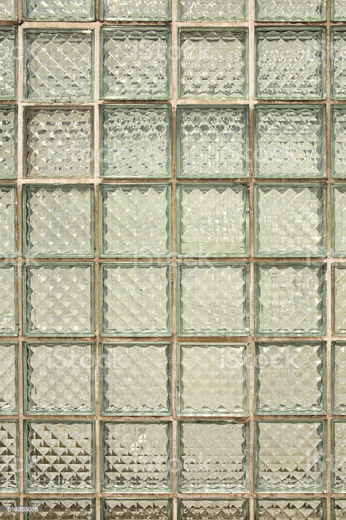 Glass wall tiles background stock photo