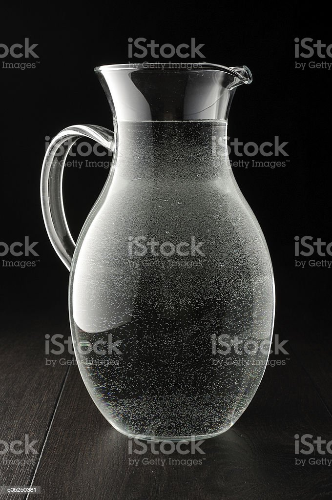 Glass water tank filled with water stock photo