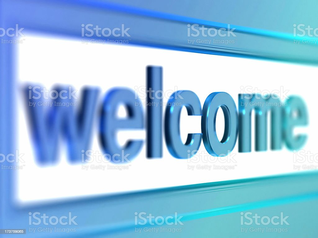 glass welcome royalty-free stock photo