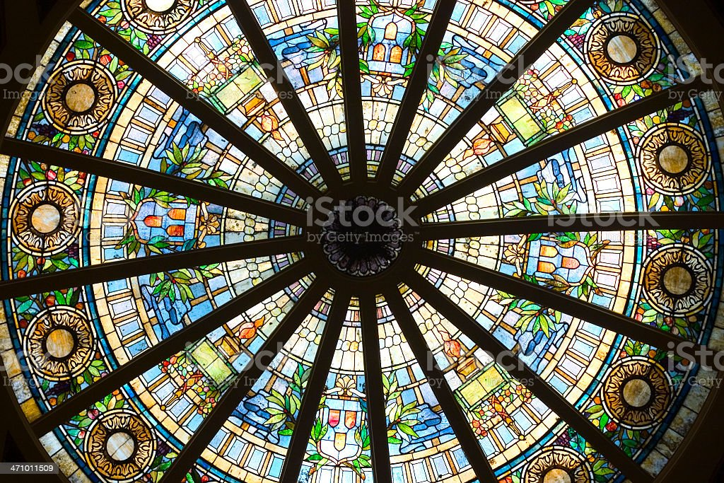 Glass Which is Stained stock photo