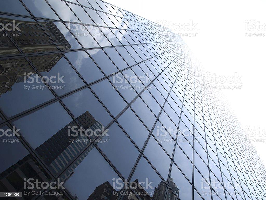 Glass window panels of a New York skyscraper royalty-free stock photo