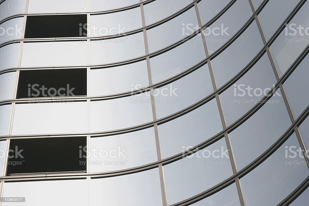 Glass windows stock photo