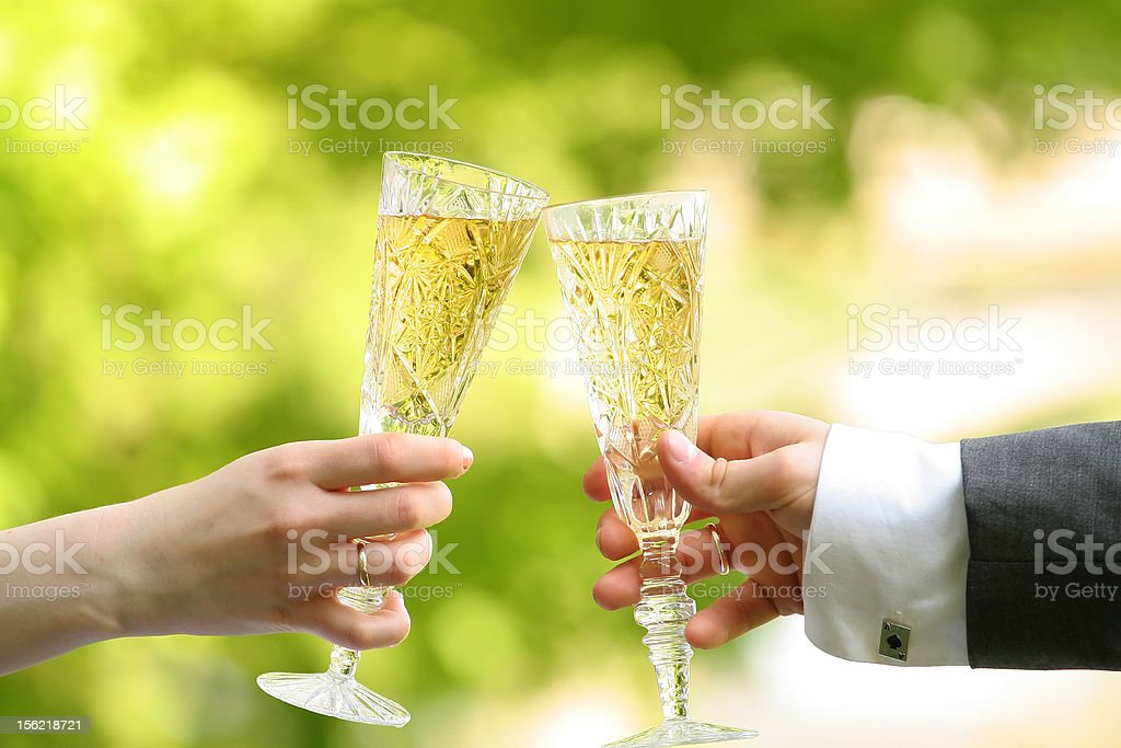 Glass wine a hand royalty-free stock photo