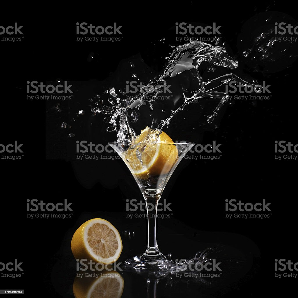 glass with a lemon royalty-free stock photo