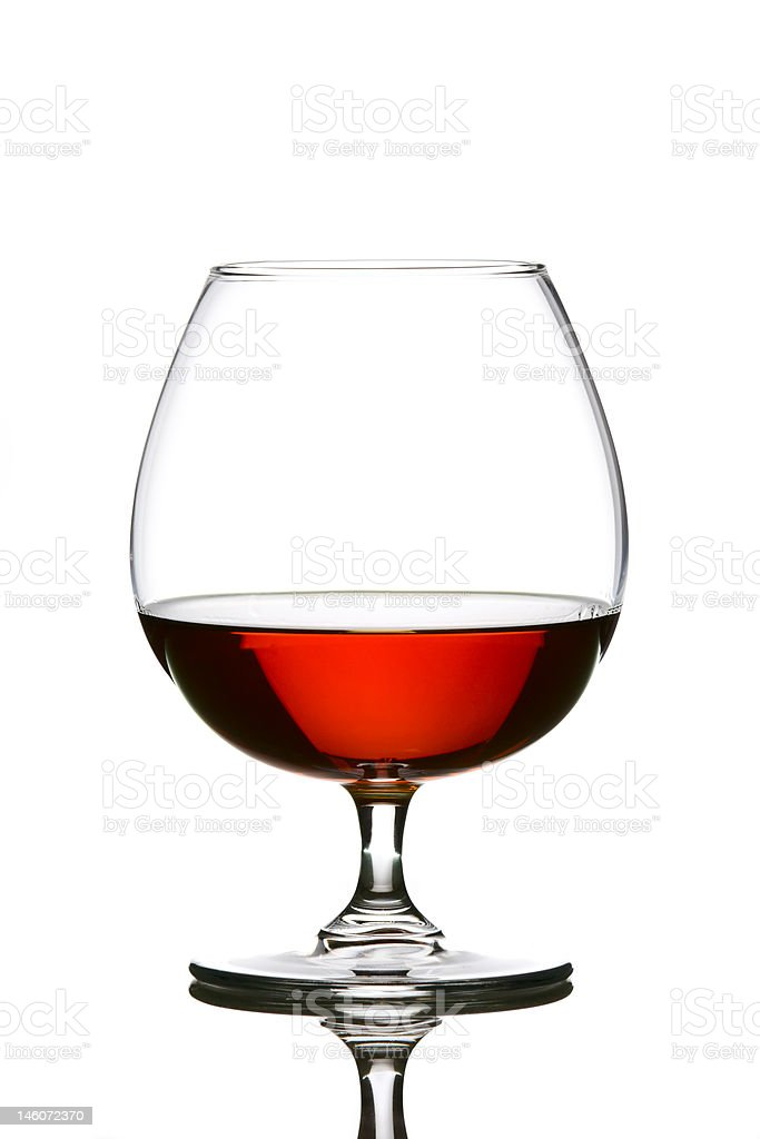 Glass with brandy royalty-free stock photo