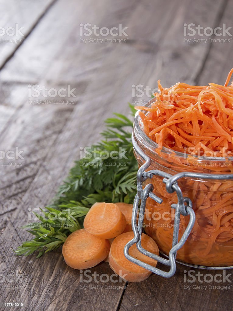 Glass with Carrot Salad royalty-free stock photo