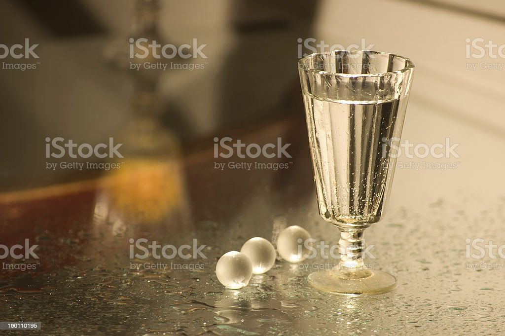 Glass with champagne royalty-free stock photo