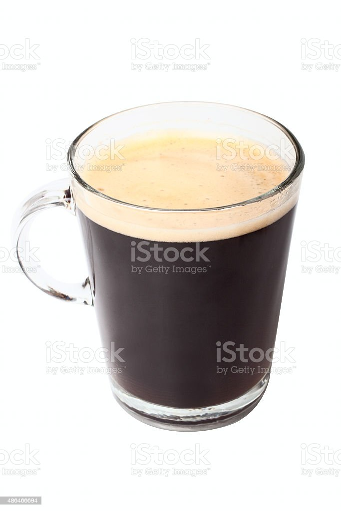 Glass with coffee stock photo