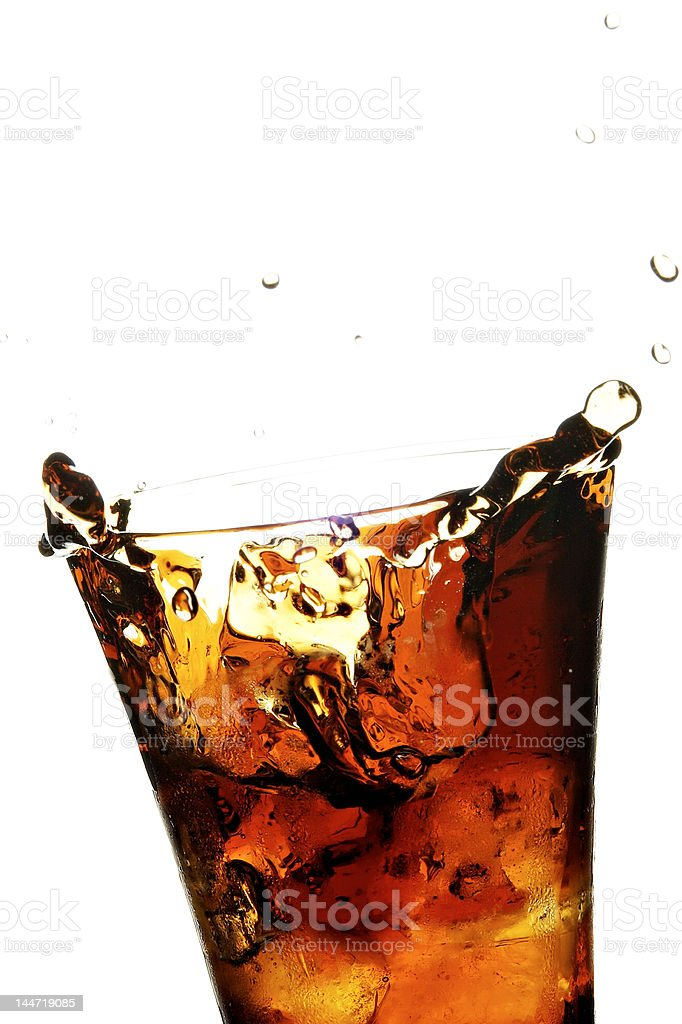 glass with cola royalty-free stock photo