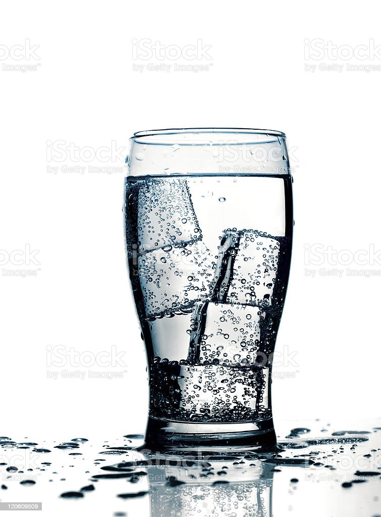 glass with cold purified water royalty-free stock photo