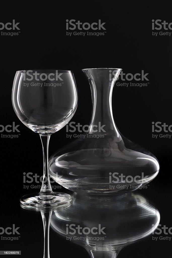 glass with decanterglass royalty-free stock photo