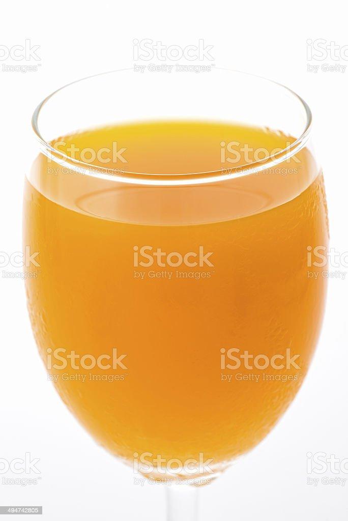 glass with fresh orange juice stock photo