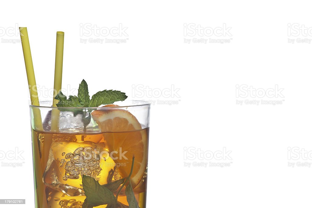 Glass with ice tea royalty-free stock photo