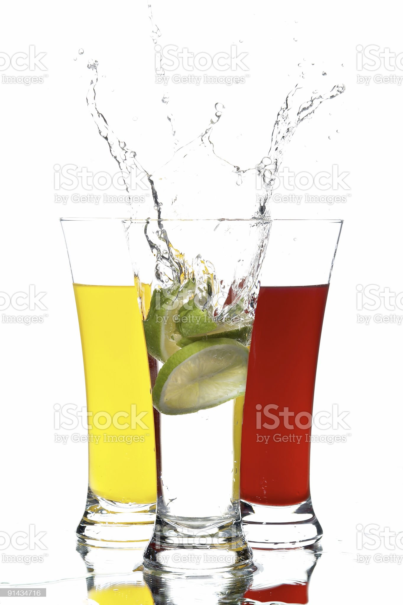 glass with juice and lemon royalty-free stock photo