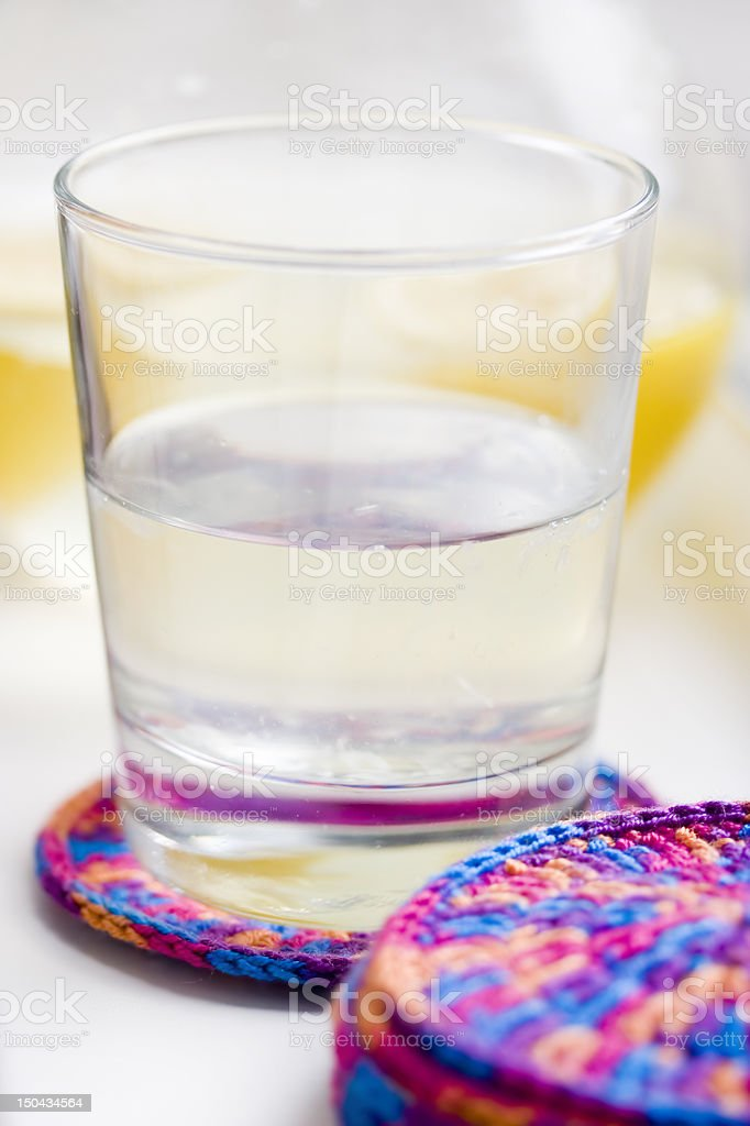 Glass with lemonade royalty-free stock photo