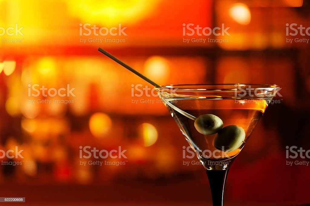 glass with martini stock photo