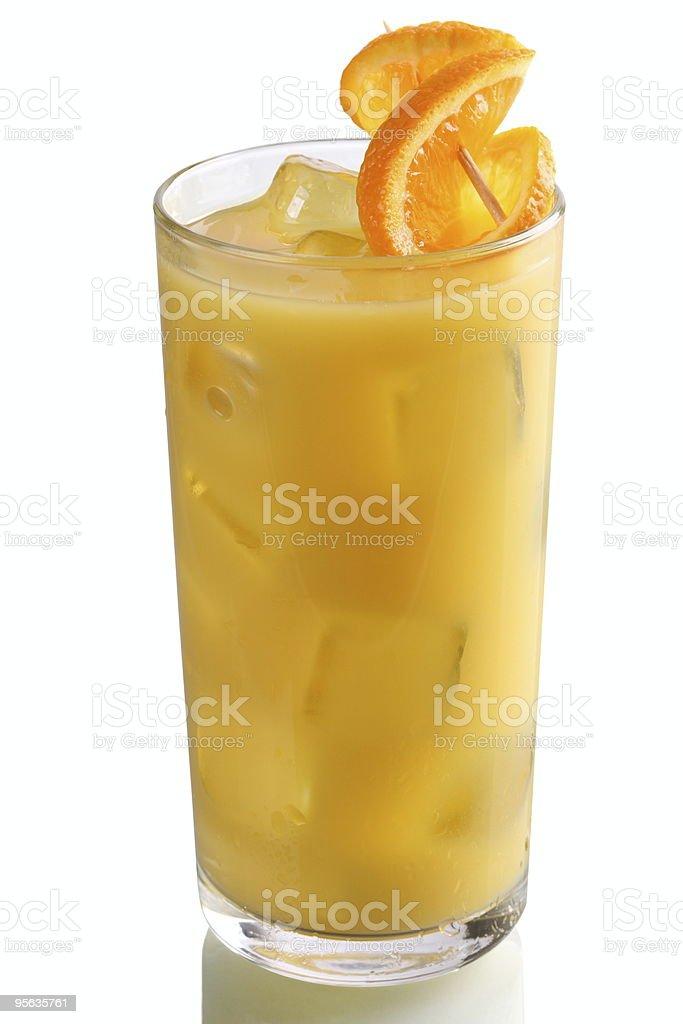 Glass with Orange Juice royalty-free stock photo