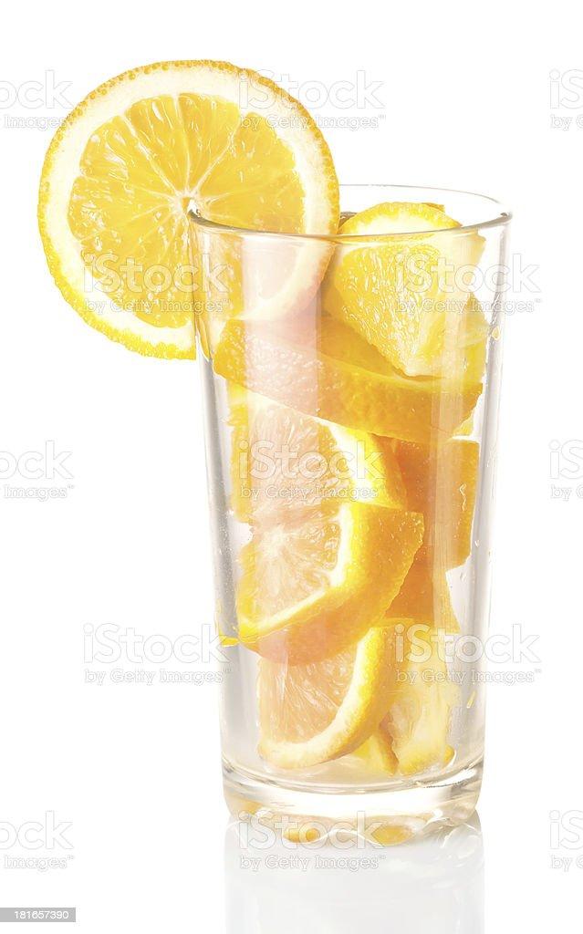 glass with orange royalty-free stock photo