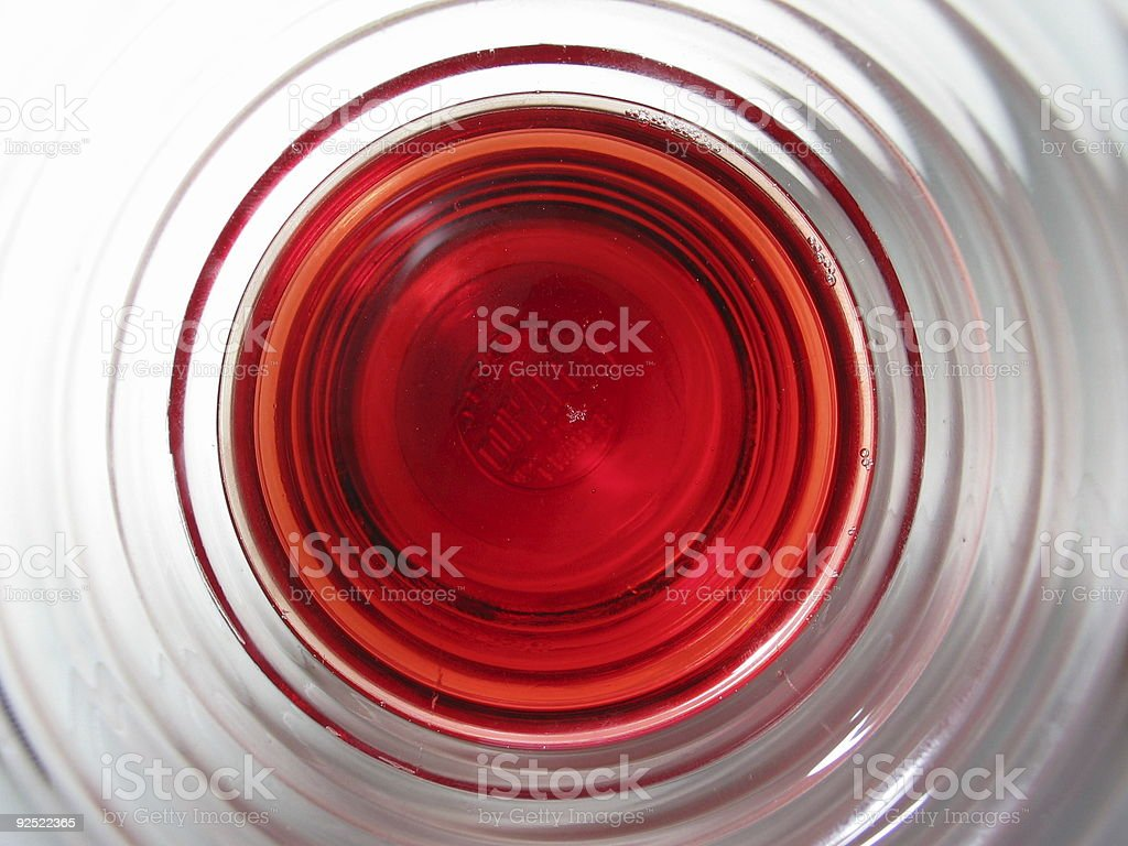 glass with red juice circles royalty-free stock photo