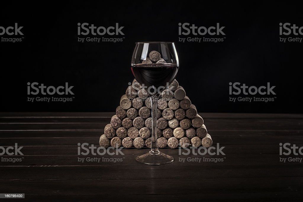 glass with red wine against jams royalty-free stock photo