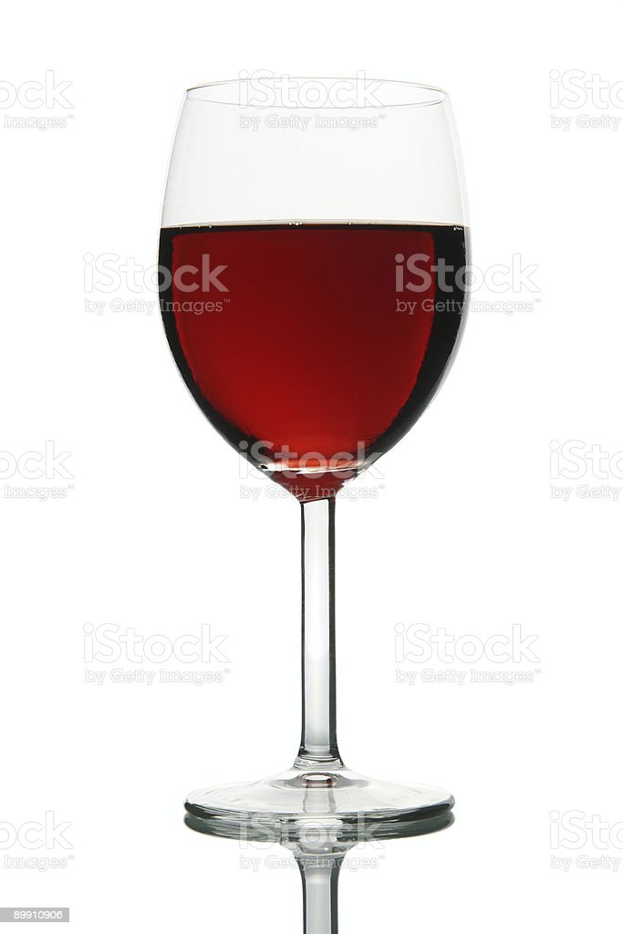 Glass with red Wine stock photo