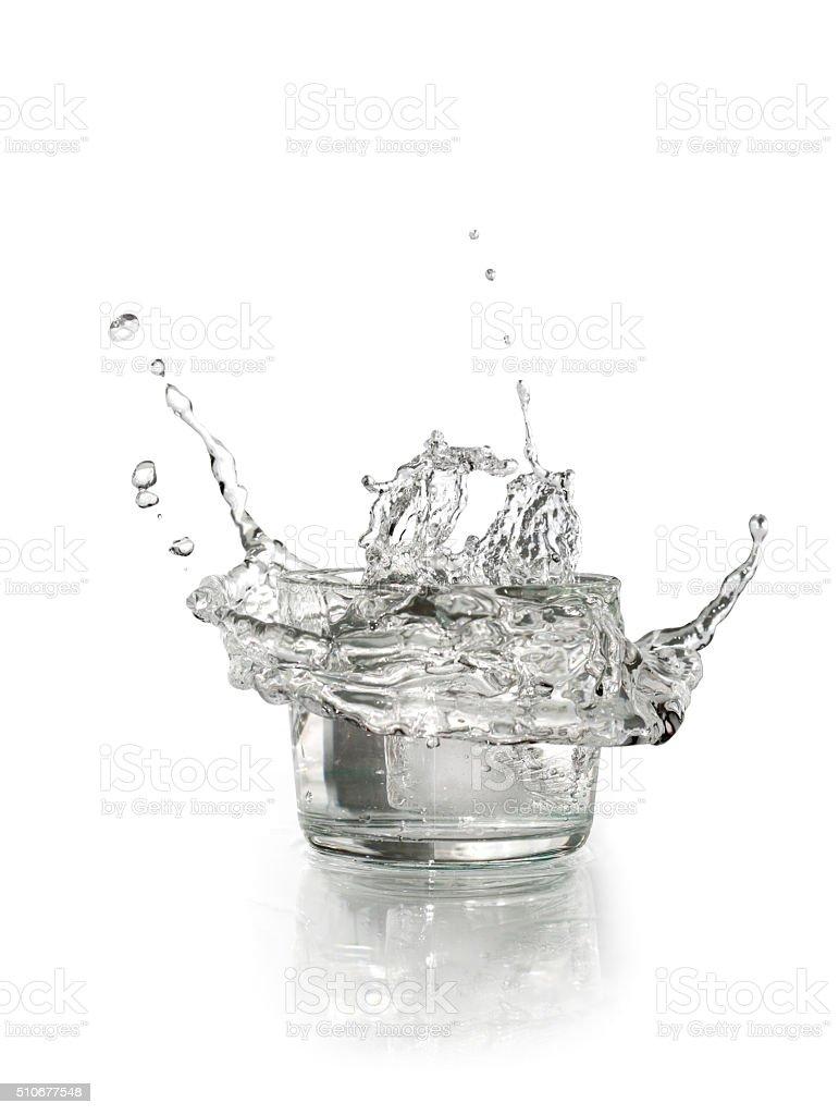 Glass With Splashing Water stock photo
