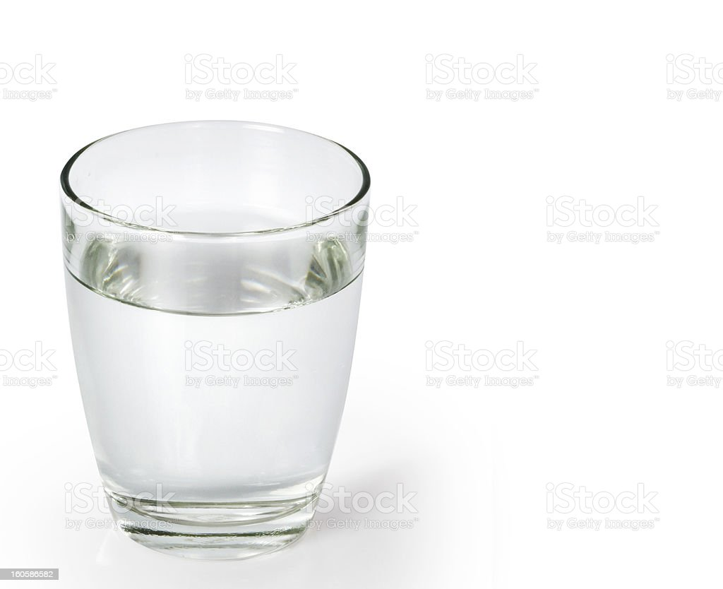 Glass with water royalty-free stock photo