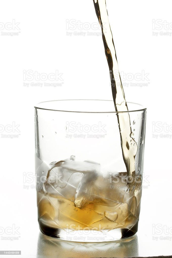 glass with whiskey royalty-free stock photo