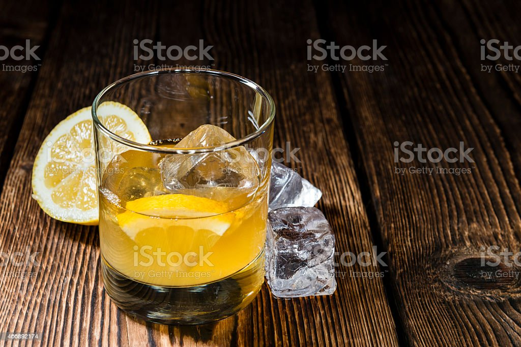 Glass with Whiskey Sour stock photo