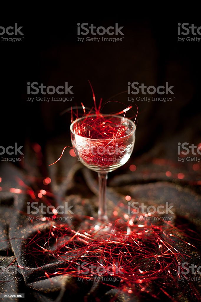 glass without wine - abstinence/alkoholfree stock photo