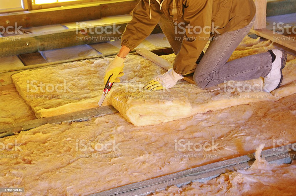 glass wool stock photo