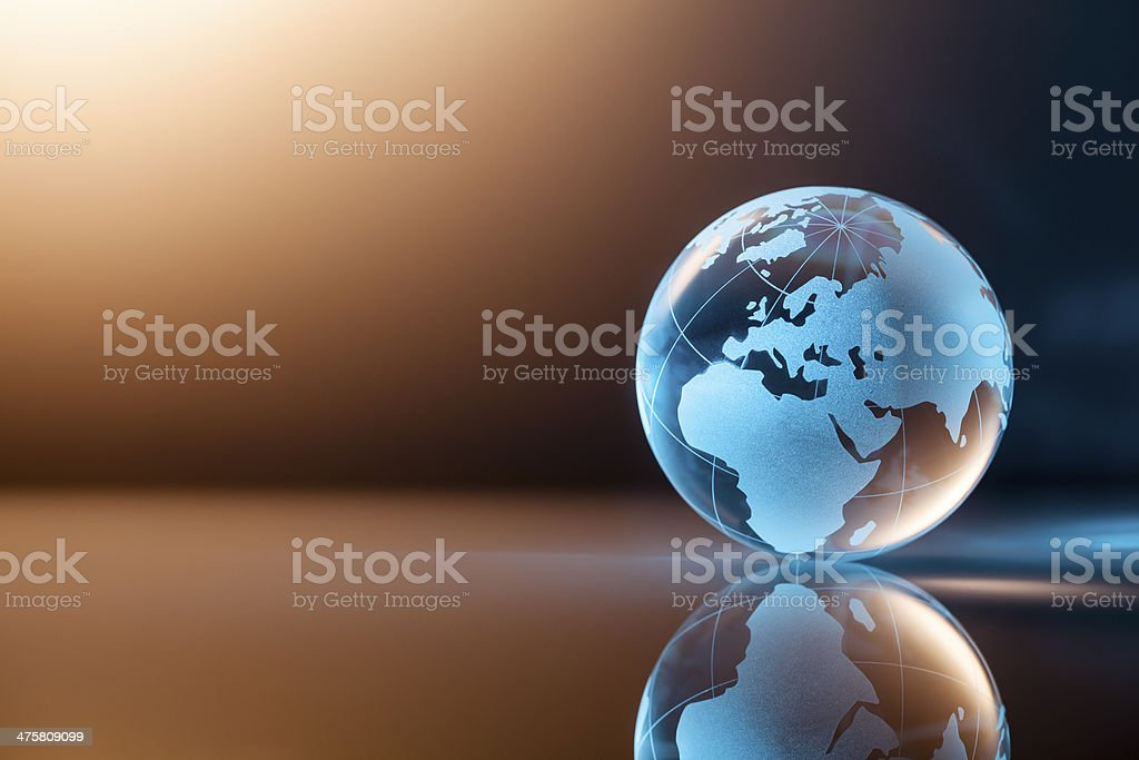 Glass World Globe - Earth Backgrounds Global stock photo