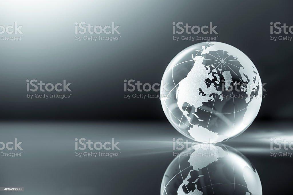 Glass World Globe - Earth Backgrounds Global stock photo