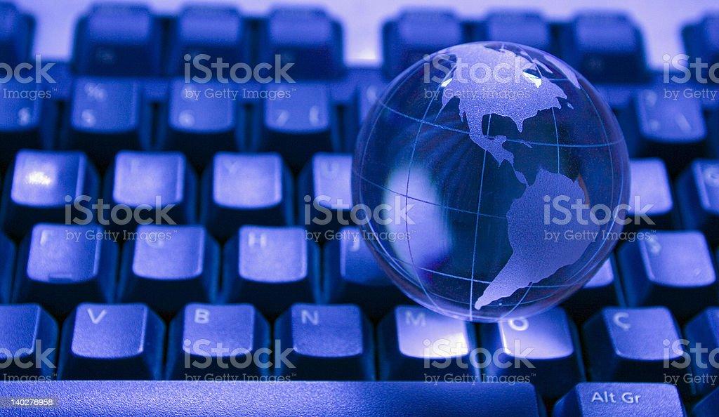 Glass world globe royalty-free stock photo