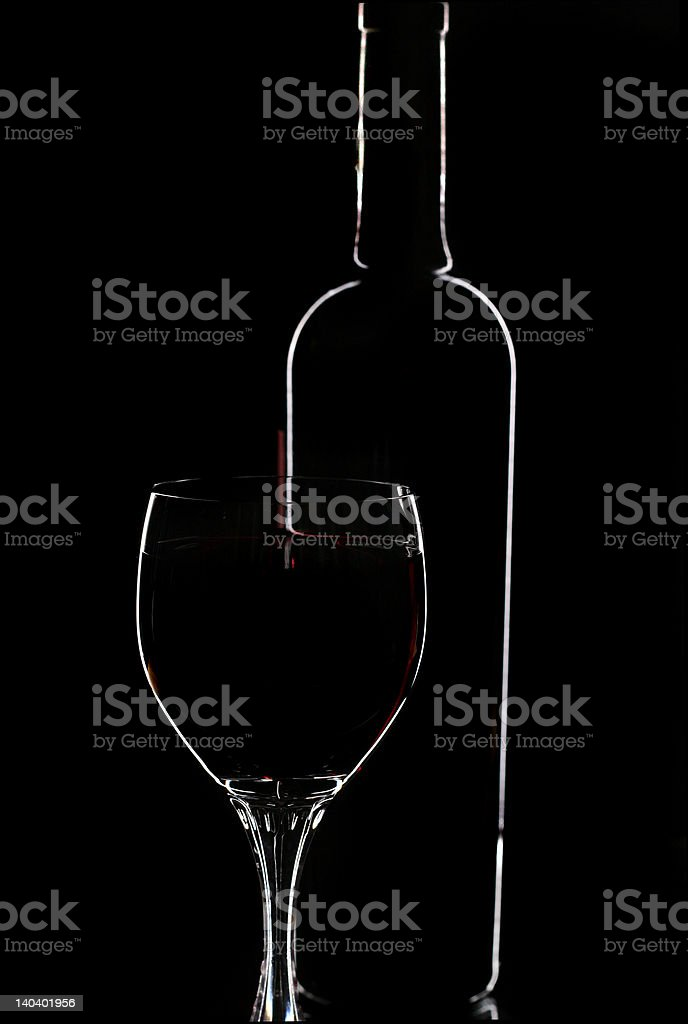 glasse  of red wine royalty-free stock photo