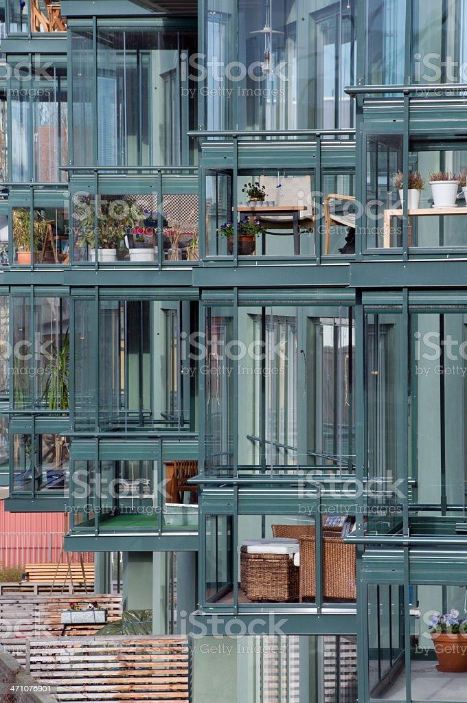 Glassed balconies II royalty-free stock photo