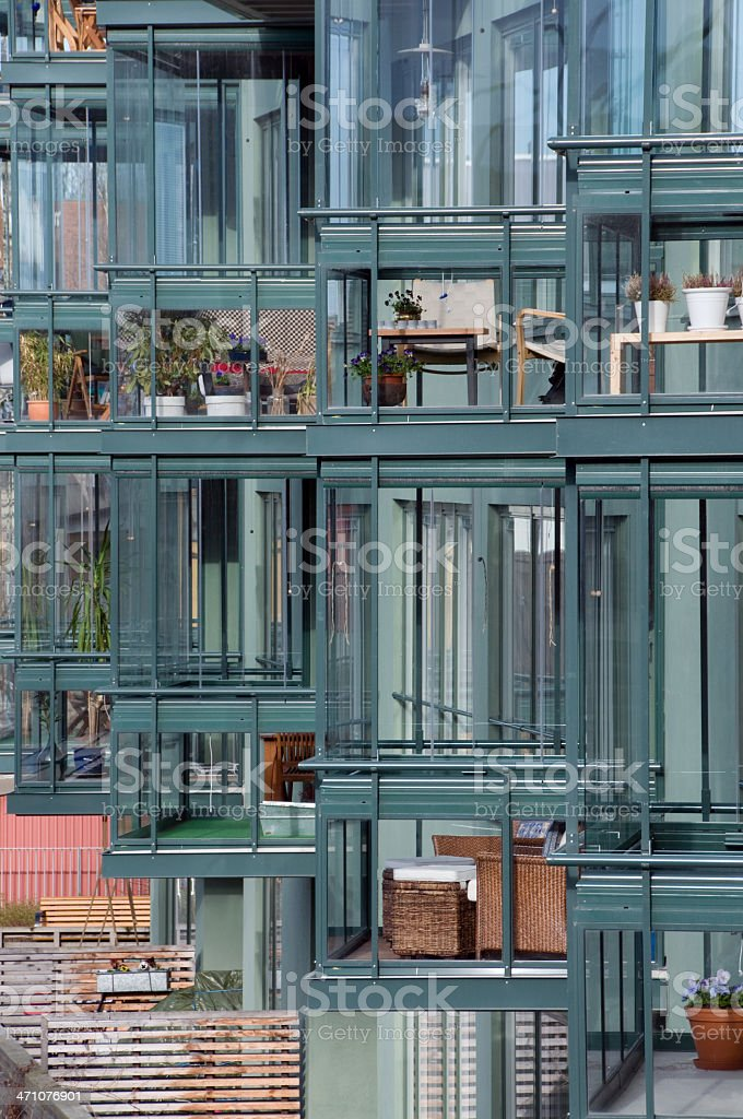Glassed balconies II stock photo