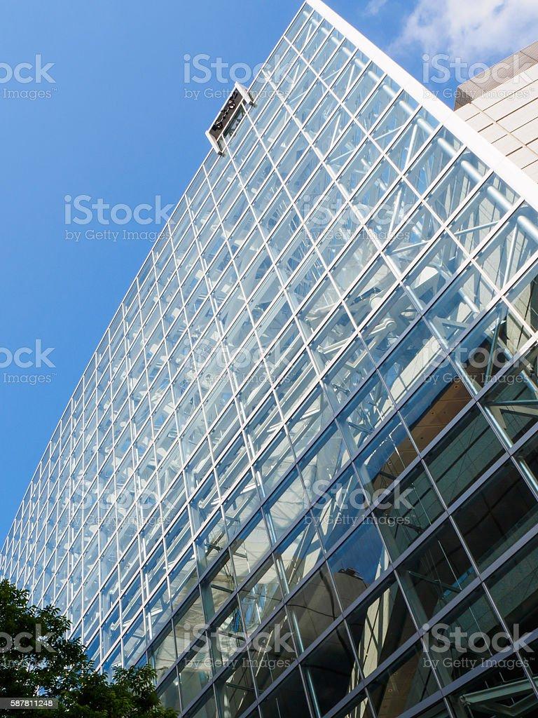 Glassed-in building stock photo