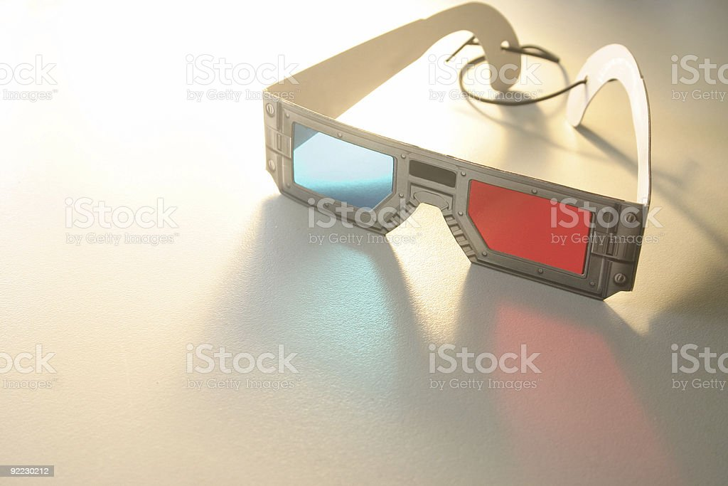 Glasses 3d stock photo