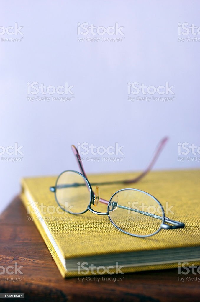 Glasses an a book royalty-free stock photo