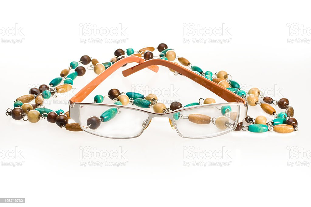 Glasses and Beads stock photo