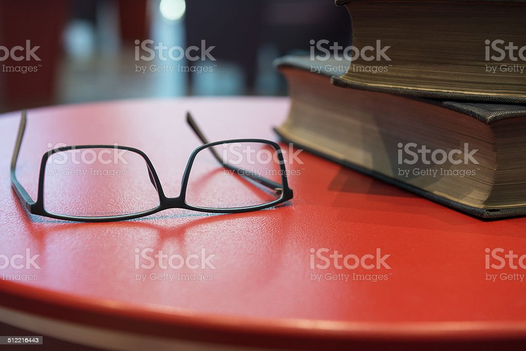 Glasses and Books stock photo