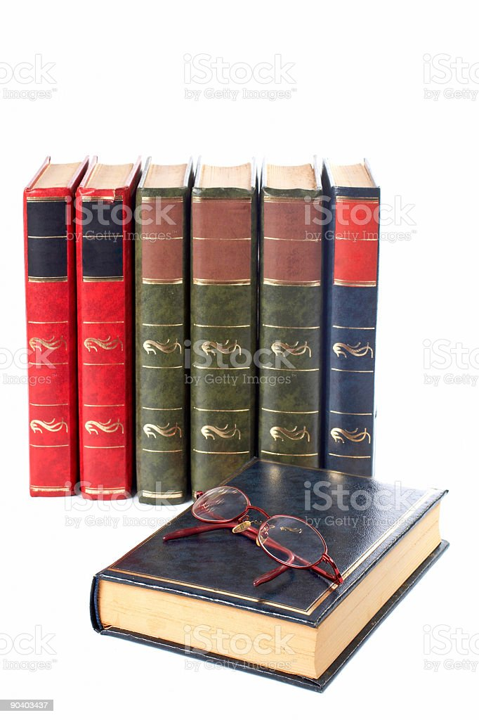 Glasses and books royalty-free stock photo