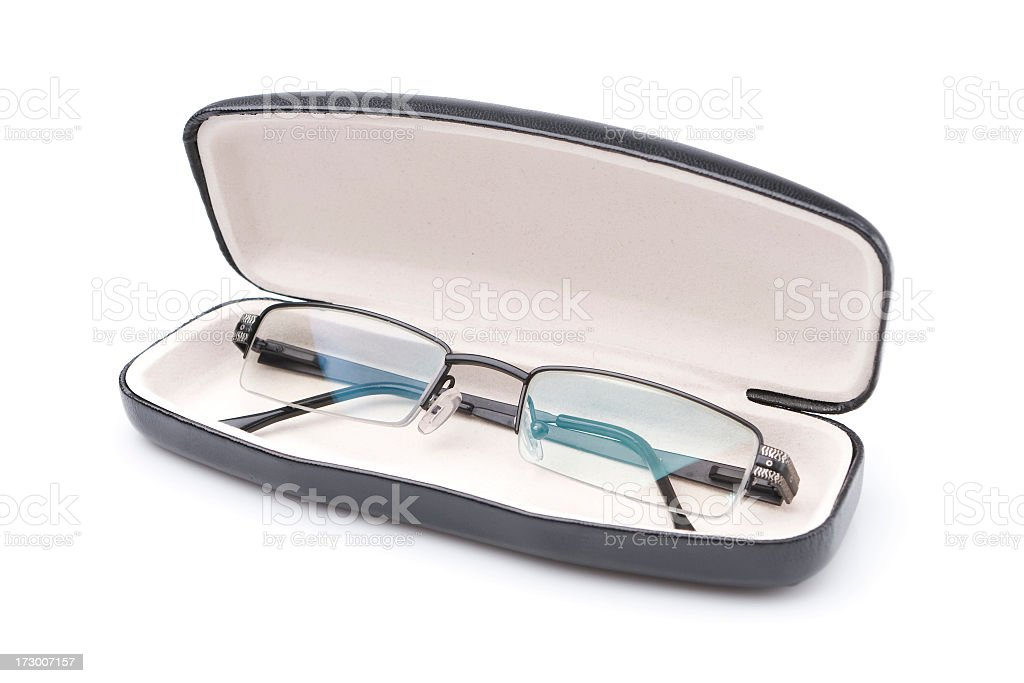 Glasses and case. royalty-free stock photo