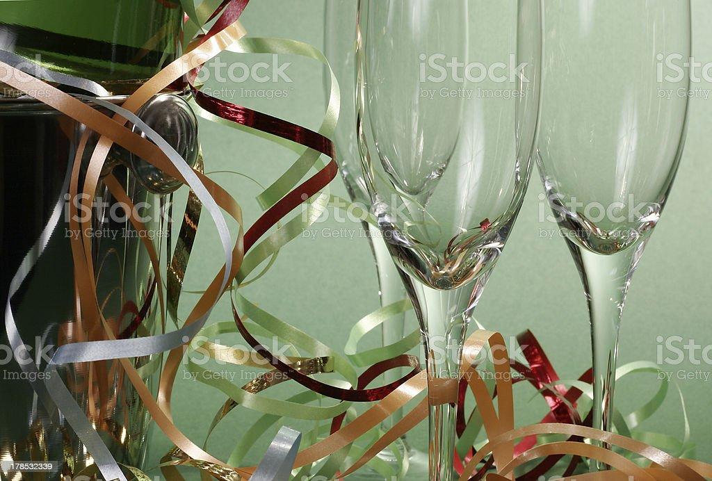 Glasses and champagne royalty-free stock photo