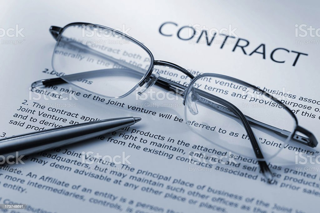 glasses and contract royalty-free stock photo
