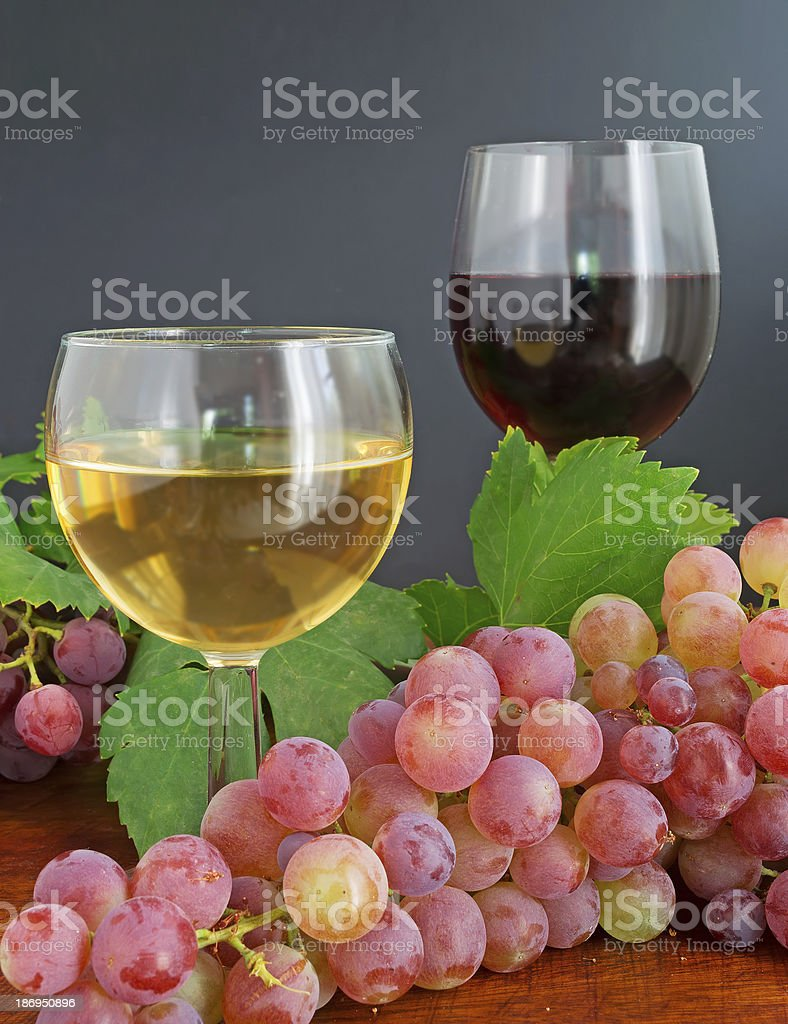 glasses and grape royalty-free stock photo