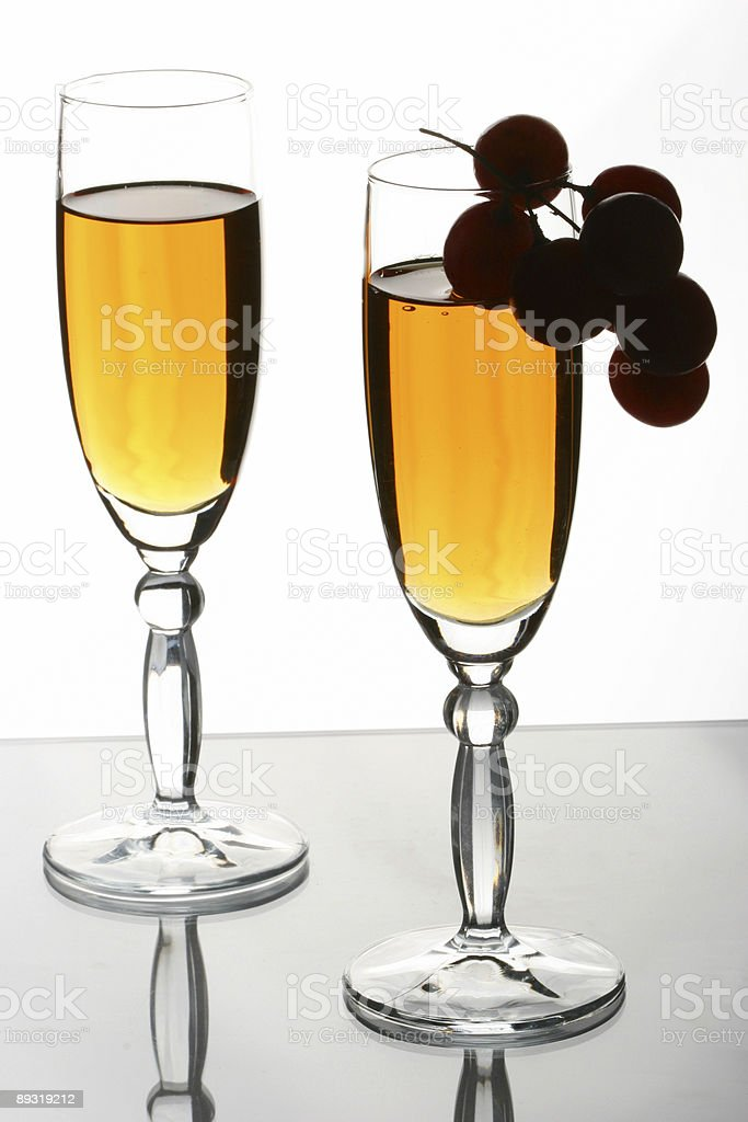 glasses and grapes royalty-free stock photo