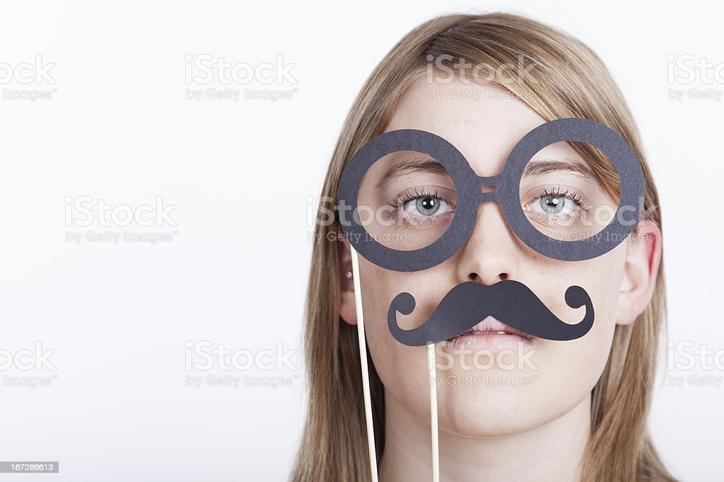 Glasses and mustache mask royalty-free stock photo