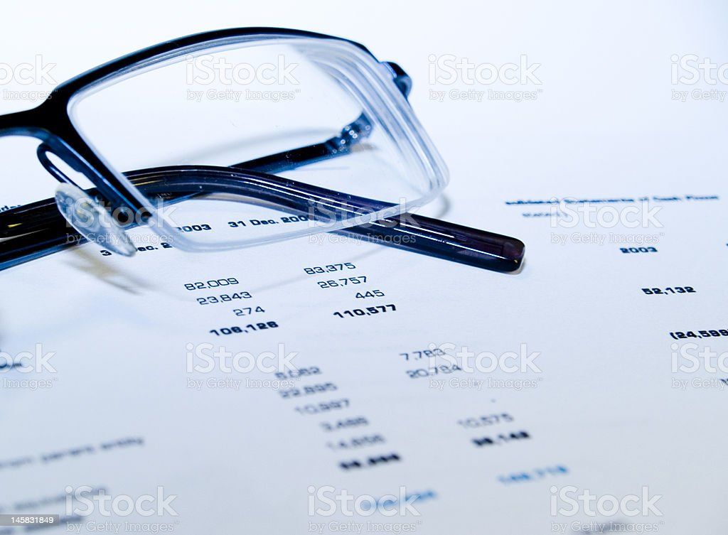 Glasses and numbers_2 royalty-free stock photo